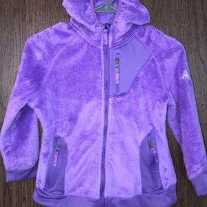 Girls purple fuzzy jacket